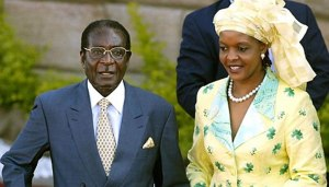 Dictator Robert Mugabe and his Wife