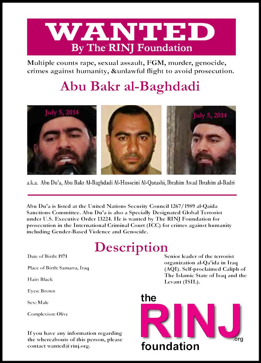 Wanted dead or alive, Abu Bakr al-Baghdadi